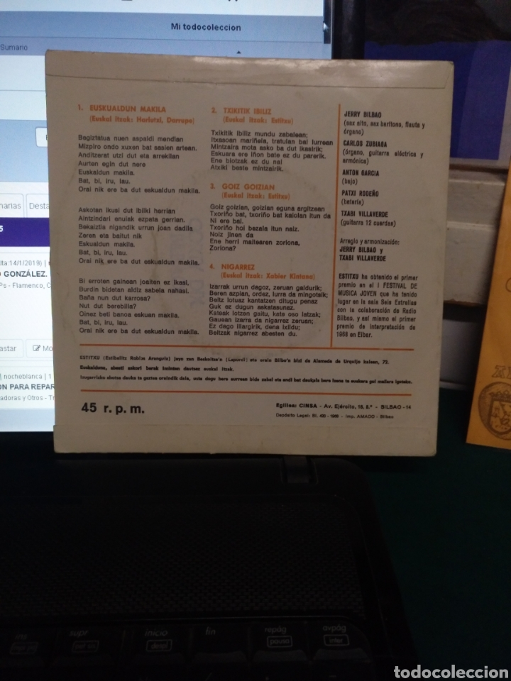 Discos de vinilo: Estitxu, CINSA, 1968 - Foto 2 - 182644480