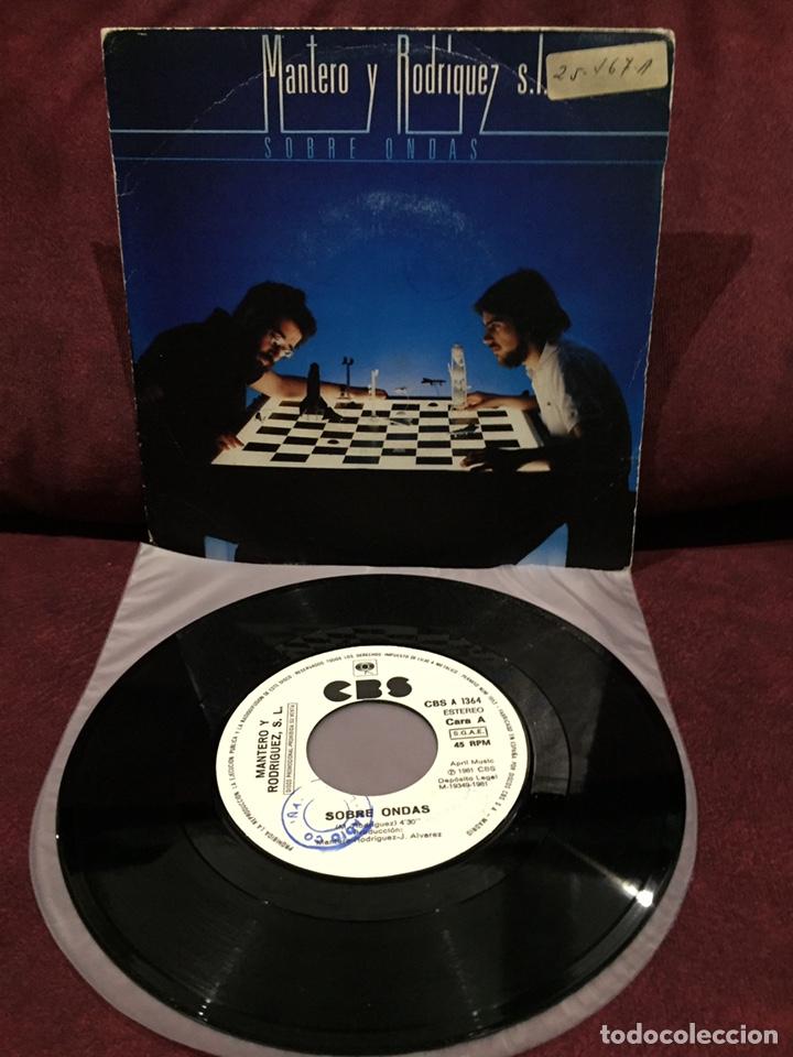 """MANTERO Y RODRÍGUEZ S.L. - SOBRE ONDAS, SINGLE 7"""", PROMOCIONAL, 1981, ESPAÑA, RARO!! (Música - Discos - Singles Vinilo - Grupos Españoles de los 70 y 80)"""