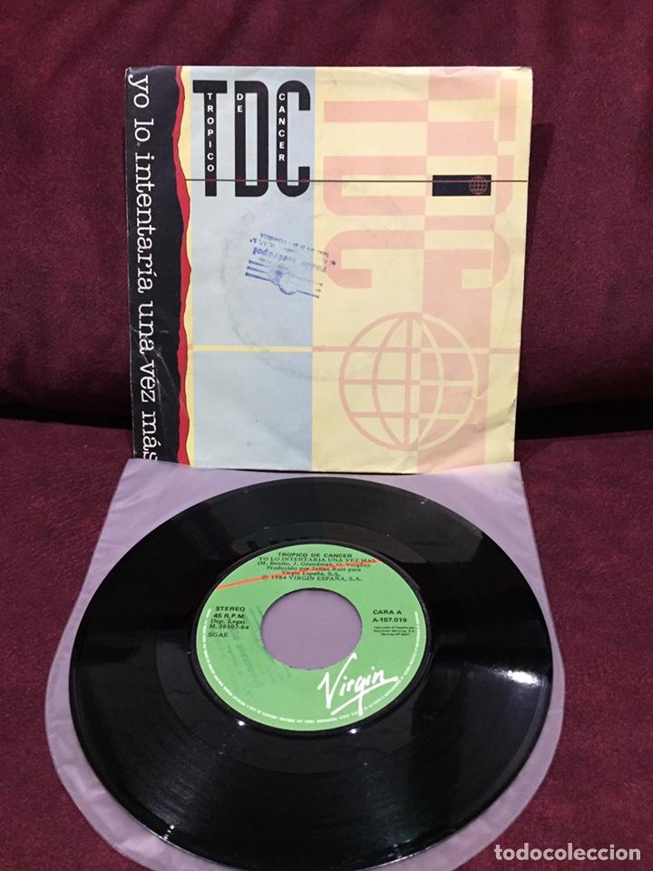 """TRÓPICO DE CANCER - YO LO INTENTARÉ UNA VEZ MÁS, SINGLE 7"""", 1984, ESPAÑA (Música - Discos - Singles Vinilo - Grupos Españoles de los 70 y 80)"""