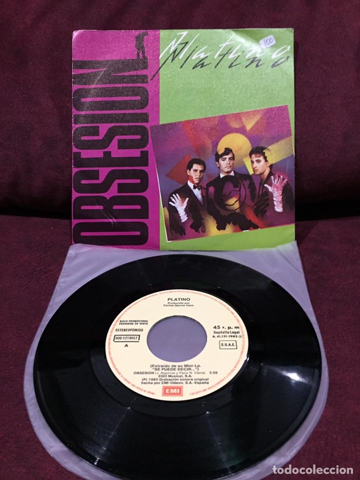 """PLATINO - OBSESIÓN, SINGLE 7"""", PROMOCIONAL, 1983, ESPAÑA (Música - Discos - Singles Vinilo - Grupos Españoles de los 70 y 80)"""