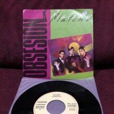 """Discos de vinilo: PLATINO - OBSESIÓN, SINGLE 7"""", PROMOCIONAL, 1983, ESPAÑA. Lote 182645348"""