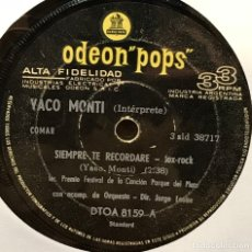 Discos de vinilo: SENCILLO ARGENTINO DE YACO MONTI AÑO 1966. Lote 122149951