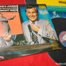 Discos de vinilo: HERE'S JOHNNY...MAGIC MOMENTS FROM THE TONIGHT SHOW BSO OST TV LP 1974 CASABLANCA USA+POSTER. Lote 182660538