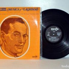 Discos de vinilo: MÚSICA Y LÁGRIMAS, THE GLENN MILLER STORY, BANDA SONORA. LP ESPAÑA 1970 NM/EX. Lote 182662808