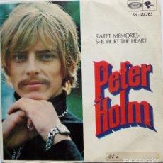 Discos de vinilo: PETER HOLM: SWEET MEMORIES . Lote 182674716