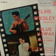 Discos de vinilo: SINGLE ELVIS PRESLEY - DE LA PELÍCULA AMOR EN HAWAII. Lote 182676616