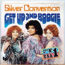 Discos de vinilo: SINGLE SILVER CONVENTION – GET UP AND BOOGIE. Lote 182679718