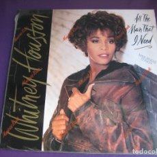 Discos de vinilo: WHITNEY HOUSTON MAXI SINGLE ARISTA 1990 ALL THE MAN THAT I NEED +2 - PARECE SIN ESTRENAR - SOUL POP. Lote 182680057