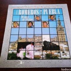 Discos de vinilo: LOS ROMEROS DE LA PUEBLA. DESPUÉS DE 20 AÑOS. SEVILLANAS 87. Lote 182680813