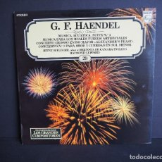Discos de vinilo: G.F. HAENDEL. MUSICA ACUATICA SUITE Nº 3.LOS GRANDES COMPOSITORES SALVAT. 1982.. Lote 182683202
