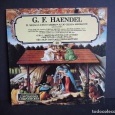 Discos de vinilo: G.F. HAENDEL. EL MESIAS. JOSUE. JERJES. JULIO CESAR. ARIODANT.LOS GRANDES COMPOSITORES SALVAT. 1982.. Lote 182683422