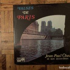 Discos de vinilo: JEAN PAUL CHAZÉ - VALSES DE PARIS - LP . Lote 182683705