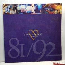 Discos de vinilo: LP-SIMPLE MINDS- GLITTERING PRIZE EN FUNDA ORIGINAL 1992. Lote 182686510