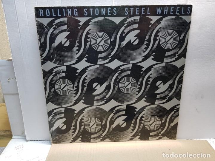 LP-ROLLING STONES- STEEL WHELS EN FUNDA ORIGINAL 1989 (Música - Discos - LP Vinilo - Pop - Rock Extranjero de los 90 a la actualidad)