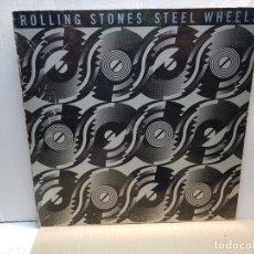 Discos de vinilo: LP-ROLLING STONES- STEEL WHELS EN FUNDA ORIGINAL 1989 . Lote 182688076
