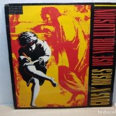 Discos de vinilo: DOBLE LP-GUNS N'ROSES- USE YOUR ILLUSION IEN FUNDA ORIGINAL 1991 . Lote 182688532