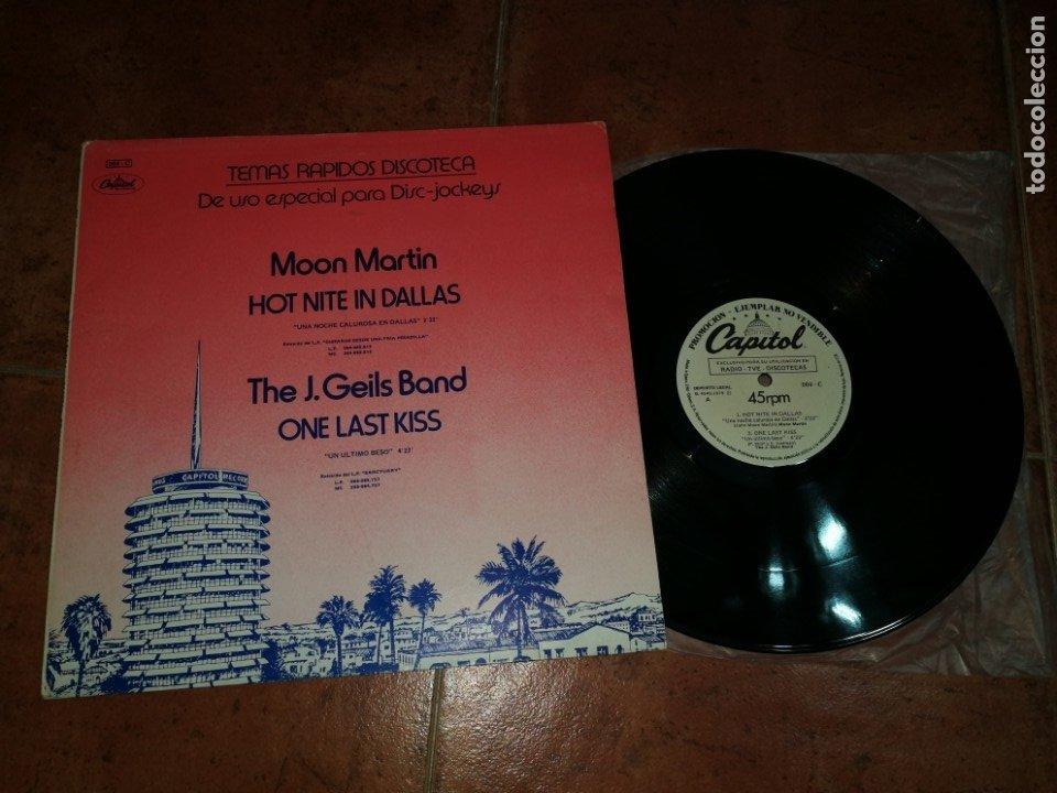 MINK DE VILLE BOB SEGER THE J. GEILS BAND MOON MARTIN MAXI SINGLE PROMO 1979 ESPAÑA MUY RARO (Música - Discos de Vinilo - Maxi Singles - Pop - Rock Extranjero de los 70)