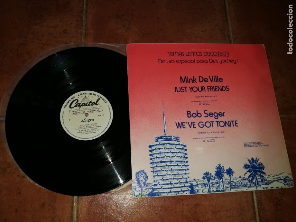 Discos de vinilo: MINK DE VILLE BOB SEGER THE J. GEILS BAND MOON MARTIN MAXI SINGLE PROMO 1979 ESPAÑA MUY RARO - Foto 2 - 182688545
