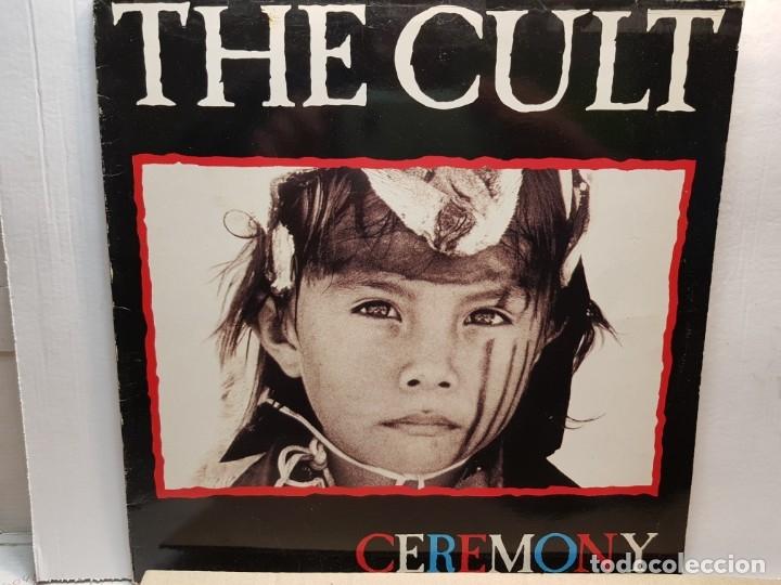 LP-THE CULT- CEREMONY EN FUNDA ORIGINAL 1991 (Música - Discos - LP Vinilo - Pop - Rock Extranjero de los 90 a la actualidad)