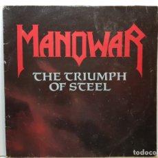 Discos de vinilo: DOBLE LP-HANOWAR-THE TRIUMPH OF STEEL EN FUNDA ORIGINAL 1992. Lote 182689426