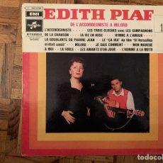 Discos de vinilo: EDITH PIAF – EDITH PIAF DE L'ACCORDEONISTE À MILORD SELLO: EMI – C 062-15301, COLUMBIA – C 062-1. Lote 182694101