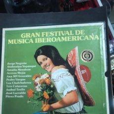 Discos de vinilo: CAJA CON 9 LP DE GRAN FESTIVAL DE MÚSICA IBEROAMERICANA. Lote 182699566