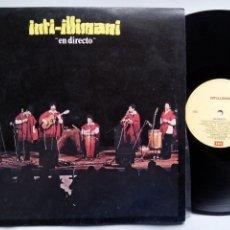 Discos de vinilo: INTI-ILLIMANI. EN DIRECTO. LP EMI 3C 054-63813. ITALY 1980. INTI ILLIMANI. . Lote 182700270