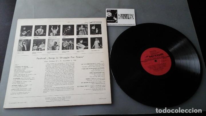 Discos de vinilo: International Youth Festival Song In Struggle For Peace: LP: Мелодия  Billy Bragg Ricardo Vertas - Foto 2 - 182701518