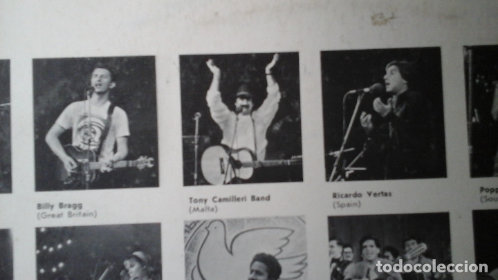 Discos de vinilo: International Youth Festival Song In Struggle For Peace: LP: Мелодия  Billy Bragg Ricardo Vertas - Foto 3 - 182701518