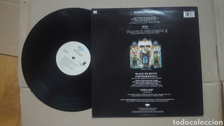 Discos de vinilo: Michael Jackson black or white MAXI 1991 - Foto 2 - 182703417