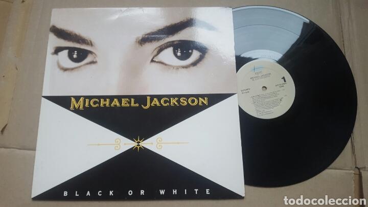 MICHAEL JACKSON BLACK OR WHITE MAXI 1991 (Música - Discos de Vinilo - Maxi Singles - Pop - Rock - New Wave Extranjero de los 80)