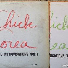 Discos de vinilo: CHICK COREA - PIANO IMPROVISATIONS - 2 LP - 1979 Y 80 ECM/EDIGSA - ECM 1248 EDICIÓN ESPAÑOLA. Lote 182708141