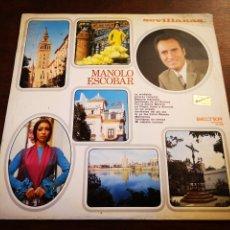 Discos de vinilo: MANOLO ESCOBAR. SEVILLANAS.. Lote 182710943