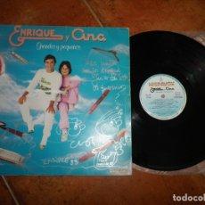 Discos de vinilo: ENRIQUE Y ANA GRANDES Y PEQUEÑOS LP FIRMADO AUTOGRAFO 1983 JOSE MARIA CANO MECANO CONTIENE 10 TEMAS. Lote 182716346