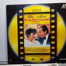 Discos de vinilo: LASER DISC-SE ACABO EL PASTEL- EN FUNDA ORIGINAL 1990. Lote 182724945