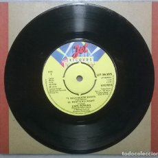 Discos de vinilo: CARL PERKINS. BLUE SUEDE SHOES/ THAT'S ALL RIGHT/ ROCK ON AROUND THE WORLD. JET, UK 1978 SINGLE. Lote 182726980