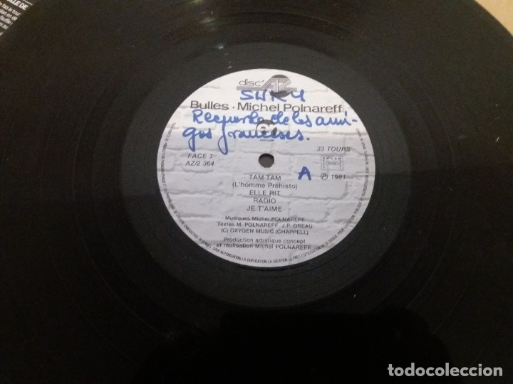 Discos de vinilo: MICHEL POLNAREFF / BULLES / LP - Foto 6 - 182743031