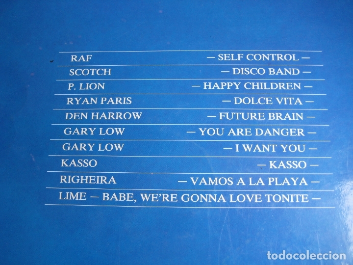 Discos de vinilo: Dolce Vita Mix LP MAX MUSIC 1987 ITALODISCO - RAF - P. LION - RYAN PARIS - KASSO - RIGHEIRA - LIME - Foto 3 - 182743745