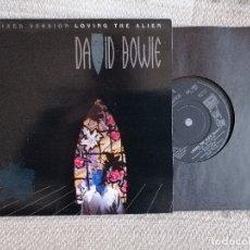Discos de vinilo: DAVID BOWIE. LOVIN THE ALIEN. ALBUM/SINGLE1985 PRITEND UK. NUEVO. Lote 182745448
