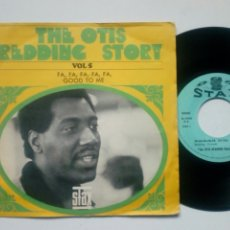 Discos de vinilo: SINGLE - THE OTIS REDDING STORY VOL. 5 (STAX FRANCE, 1967) - FA, FA, FA, FA, FA + GOOD TO ME -. Lote 182745856