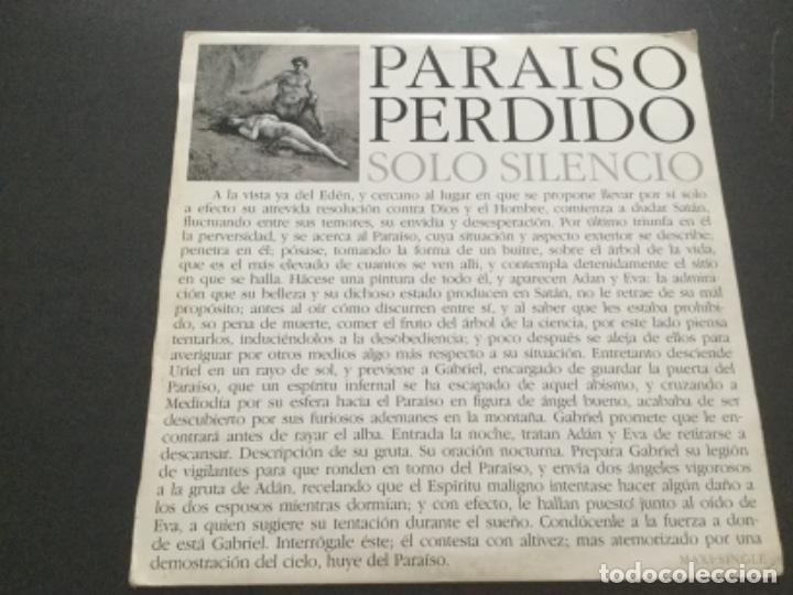 PARAÍSO PERDIDO - SOLO SILENCIO (Música - Discos de Vinilo - Maxi Singles - Electrónica, Avantgarde y Experimental)