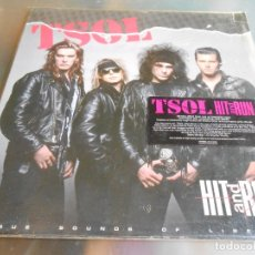 Discos de vinilo: TSOL - HIT AND RUN -, LP, IT´S TOO LATE + 10, AÑO 1987 MADE IN USA. Lote 182765302