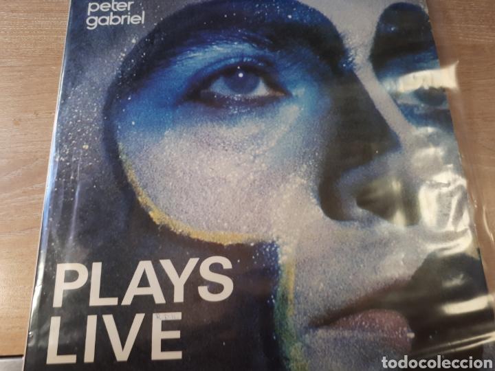 PETER GABRIEL PLAYS LIVE DOBLE LP (Música - Discos - LP Vinilo - Pop - Rock - Extranjero de los 70)