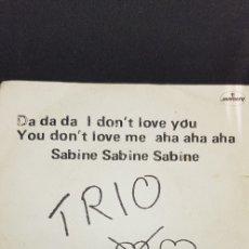 Discos de vinilo: TRÍO SG MERCURY 'DA DA DA' 1982. Lote 182767037