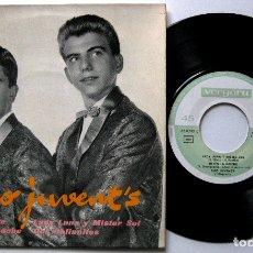 Discos de vinilo: DUO JUVENT'S - CIAO AMORE / LADY LUNA Y MISTER SOL + 2 - EP VERGARA 1962 FIRMADO Y DEDICADO BPY. Lote 182768885