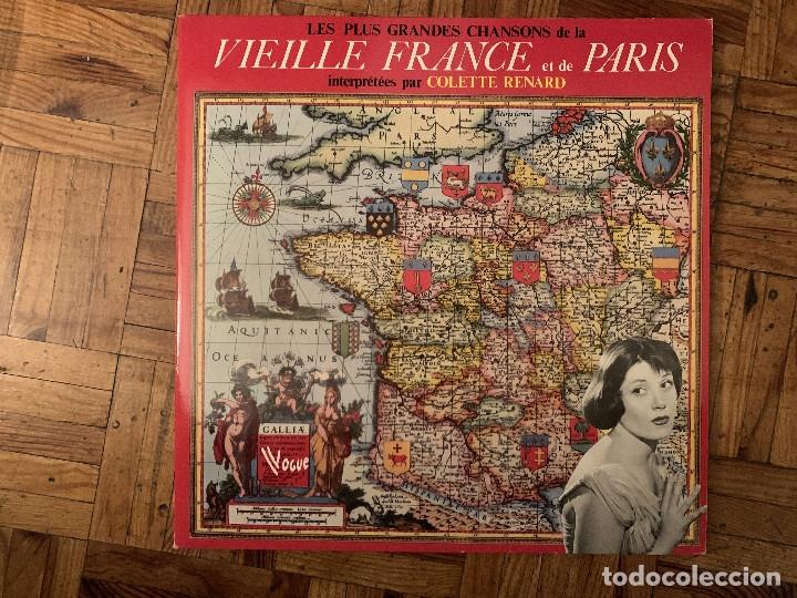 COLETTE RENARD - LES PLUS GRANDES CHANSONS DE LA VIEILLE FRANCE ET DE PARIS.FRANCE (Música - Discos - LP Vinilo - Canción Francesa e Italiana)
