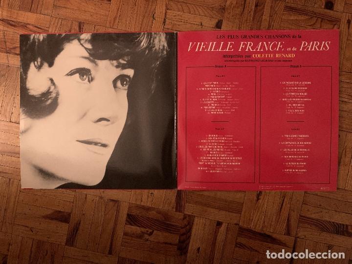 Discos de vinilo: colette renard - Les plus grandes chansons de la vieille france et de paris.france - Foto 2 - 182769680