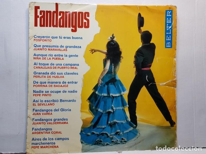 LP-FANDANGOS- EN FUNDA ORIGINAL 1967 (Música - Discos - LP Vinilo - Flamenco, Canción española y Cuplé)