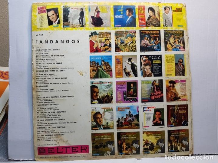 Discos de vinilo: LP-FANDANGOS- en funda original 1967 - Foto 2 - 182773150