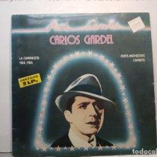 Discos de vinilo: DOBLE LP-CARLOS GARDEL- ASI CANTA EN FUNDA ORIGINAL 1981. Lote 182773942